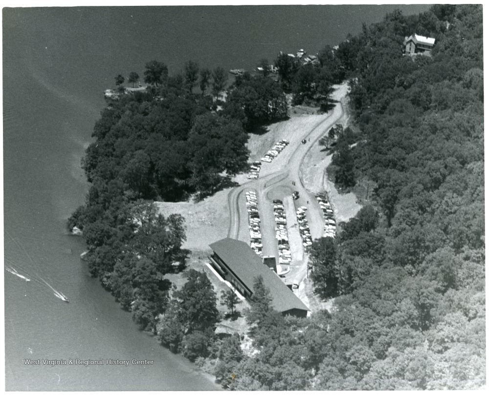 Aerial view of Mont Chateau, ca. 1960-1970