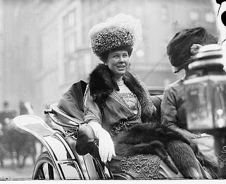 """Queenie"" Loew in her carriage"