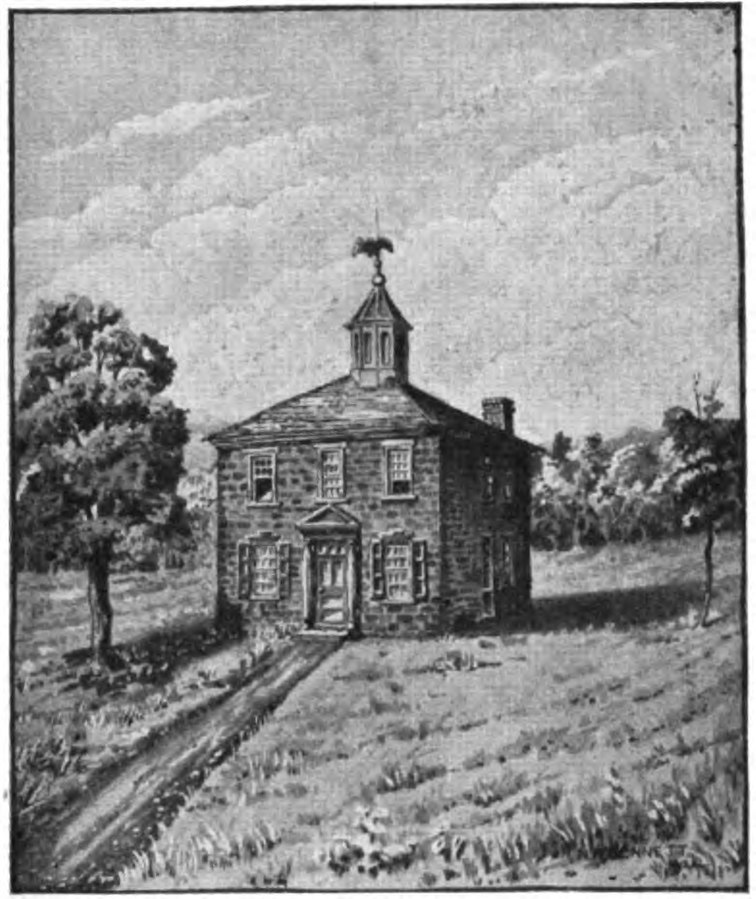 An illustration of the original statehouse, which was torn down in 1852 to make way for the present courthouse.