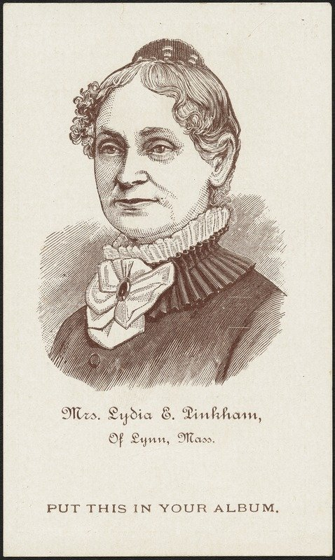 Lydia Pinkham (image from the Boston Public Library)