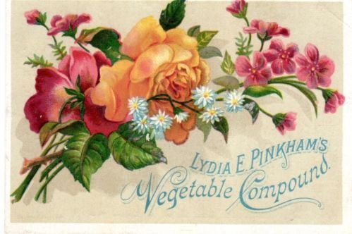 Victorian advertising card (image from Pinterest)