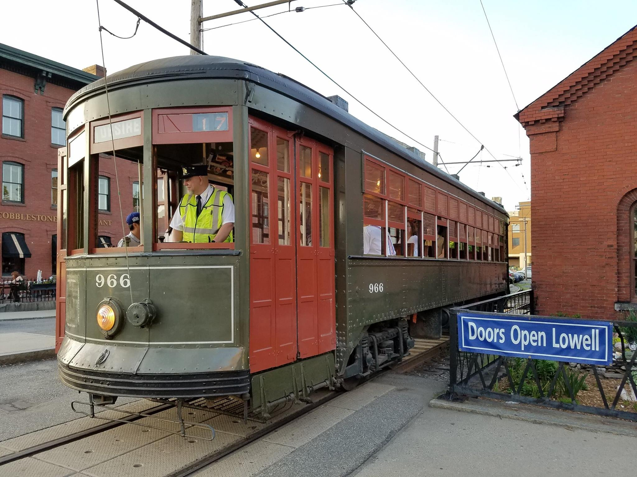 The National Trolley Museum's New Orleans 966 car (image from the National Park Service)