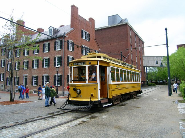 National Trolley Museum in Lowell (image from Railway Preservation online)