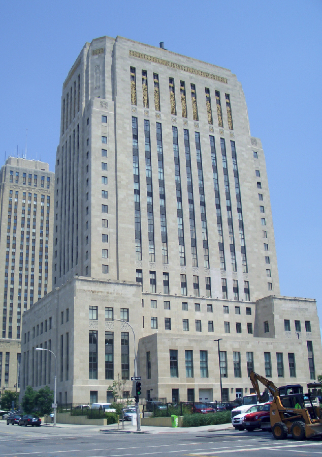 The Kansas City Jackson County Courthouse houses much of the Missouri 16th Judicial Circuit Court. Image obtained from Wikipedia.