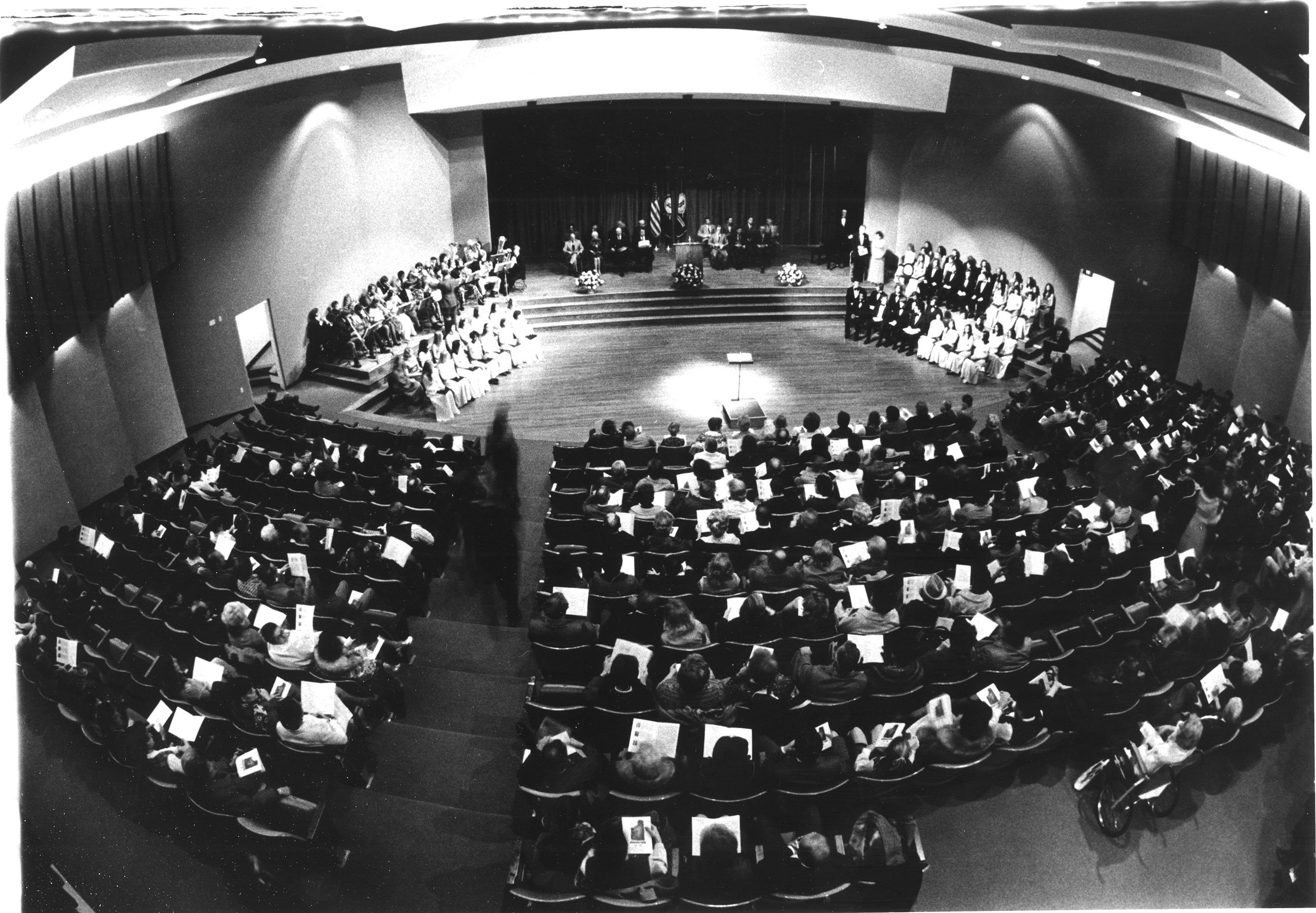 An overview of the audience, Gifford Theater. EKU Photograph Collection.