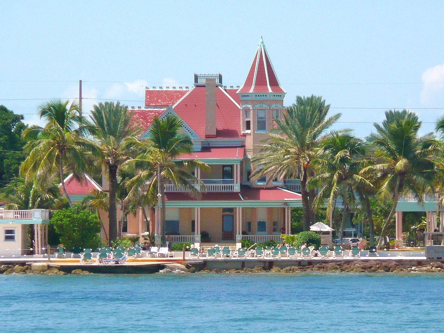 Southernmost House as seen from the Atlantic Ocean