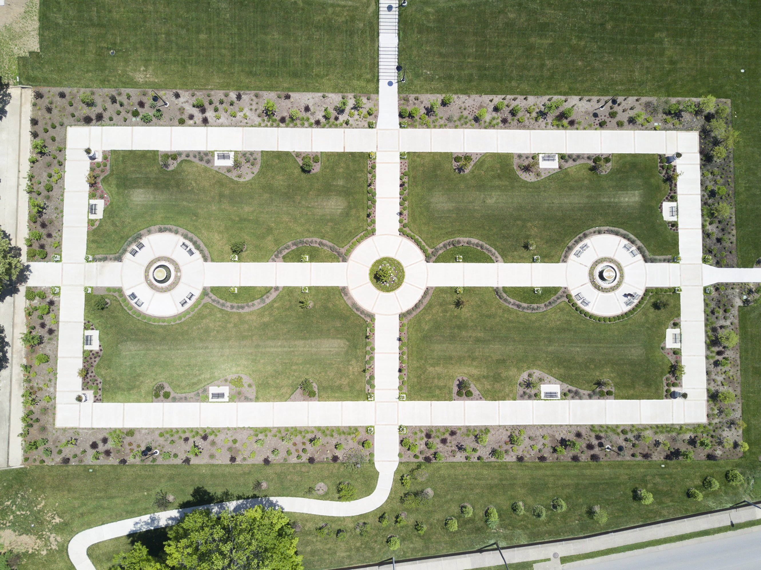 Aerial view of Carloftis Garden