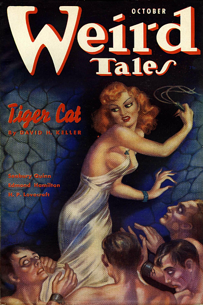 "The cover of the magazine where ""The Shunned House"" made its first appearance in print."