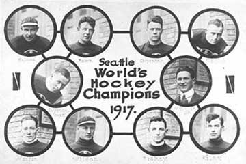 1917 Seattle Metropolitans Hockey Team - Stanley Cup Winners