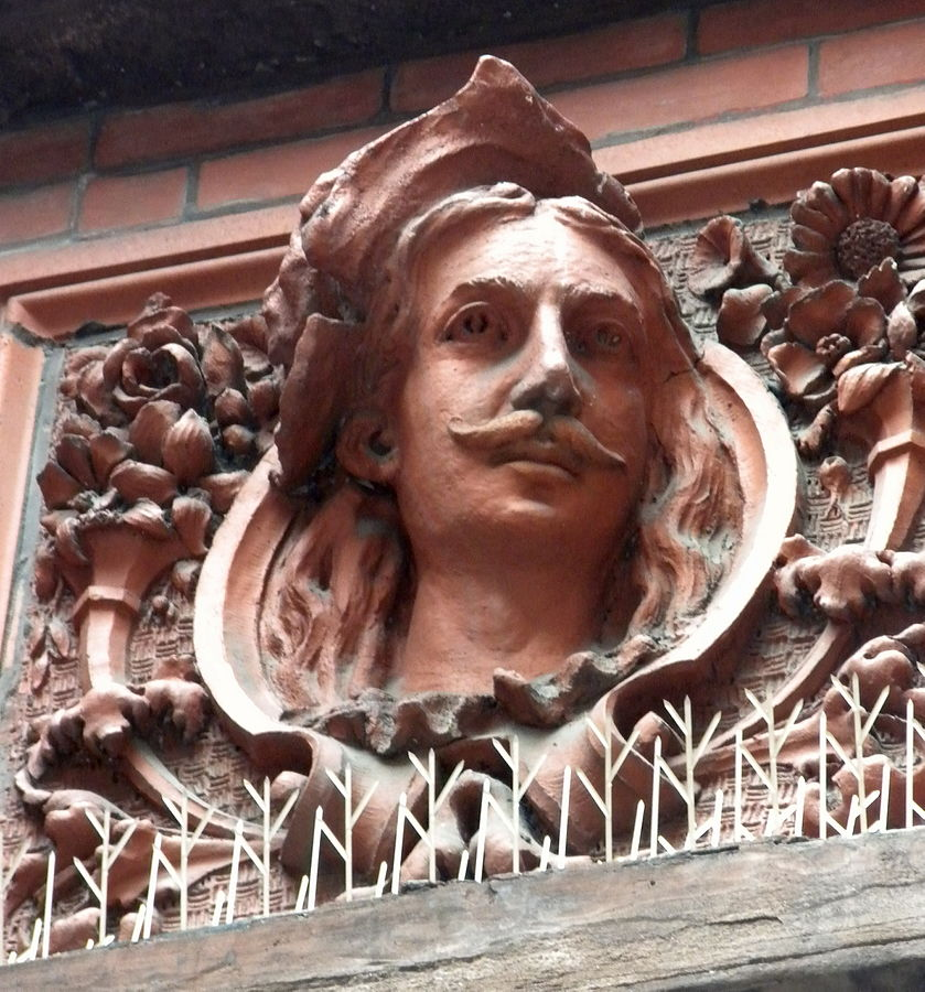 Decorative panel on the building