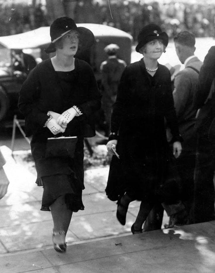 Silent screen actress Marion Davies attends the second funeral for legendary star Rudolph Valentino at Church of The Good Shepherd, September 7, 1926