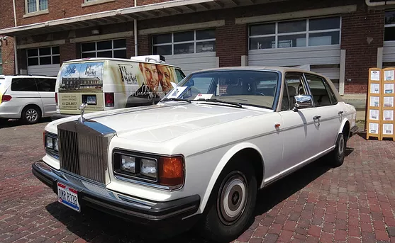 The 1989 Rolls Royce Silver Spur is one of over 40 cars in the museum's collection.