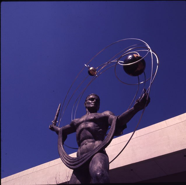 The Centennial Man Statue. EKU Color Transparencies.
