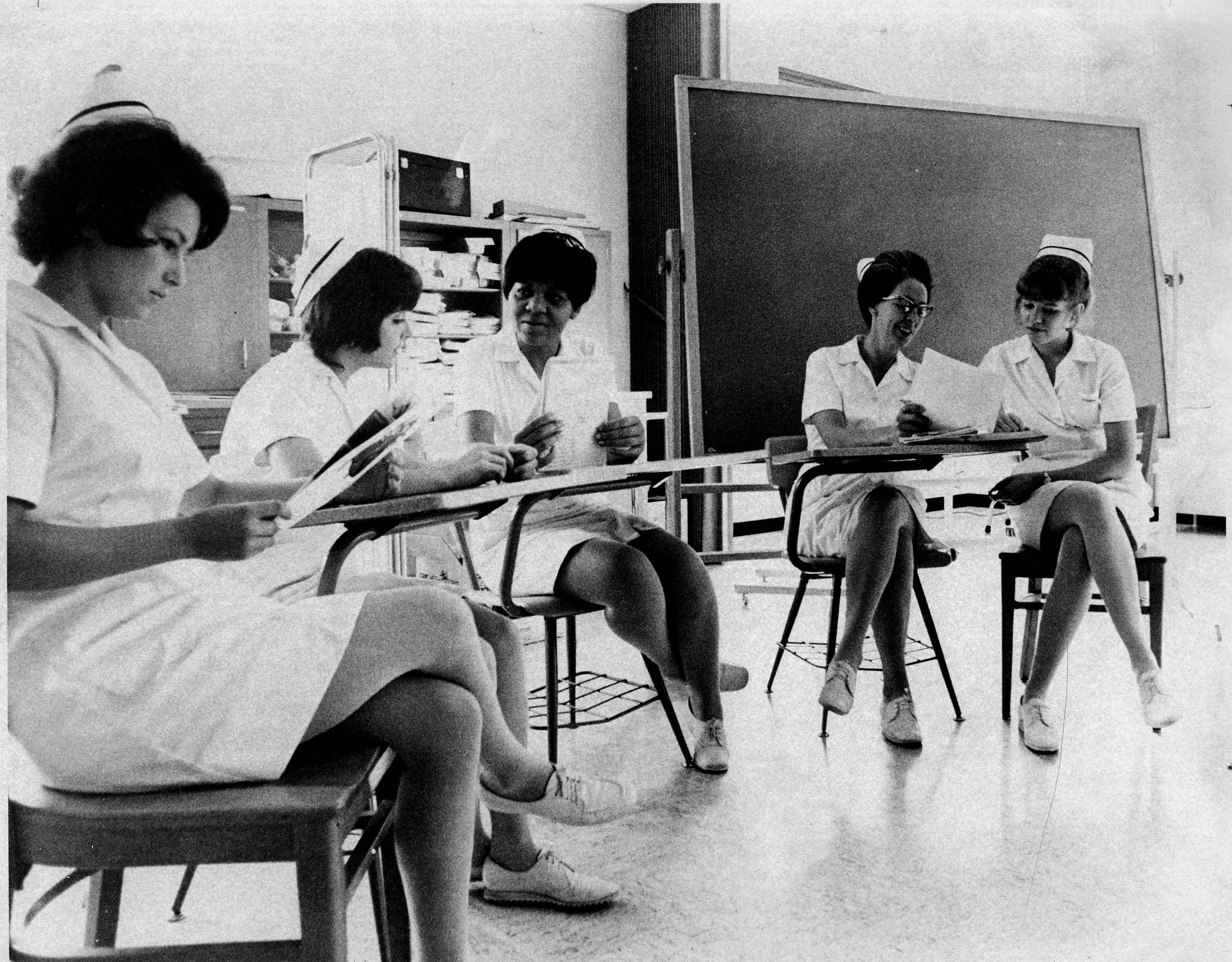 Nursing class, 1972.  EKU Photo Collection.