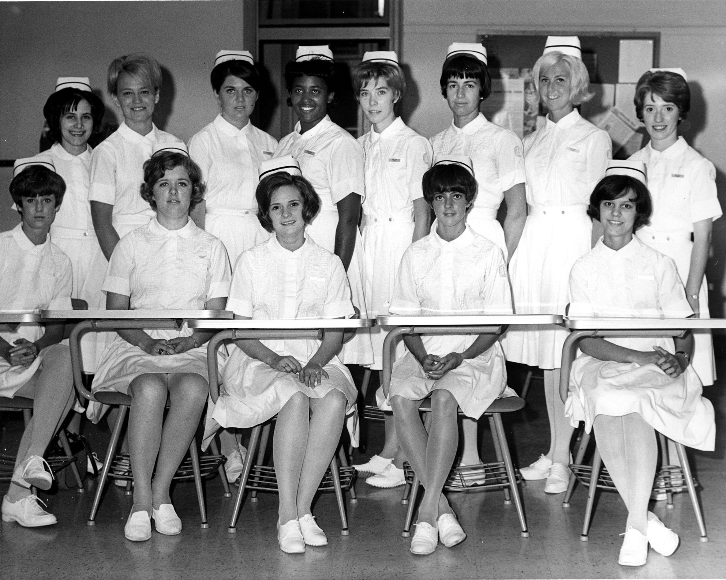 The first associate degree nursing class, 1967.  EKU Photo Collection.