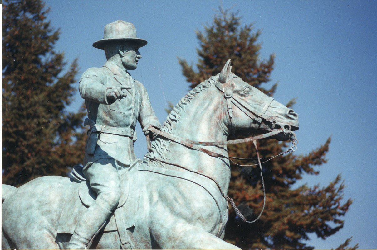 Equestrian statue, ca. 2000.  EKU Photo Collection.