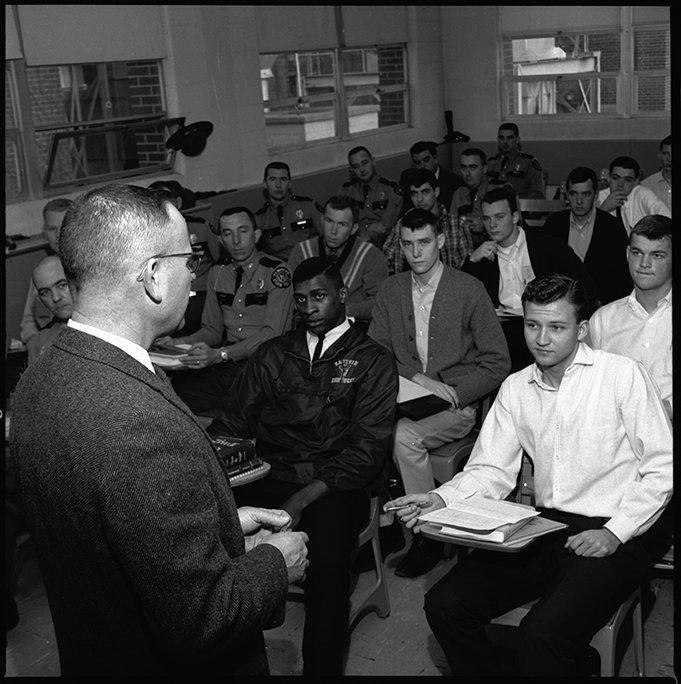 Robert Posey teaching a law enforcement class, 1966. EKU Negative Collection