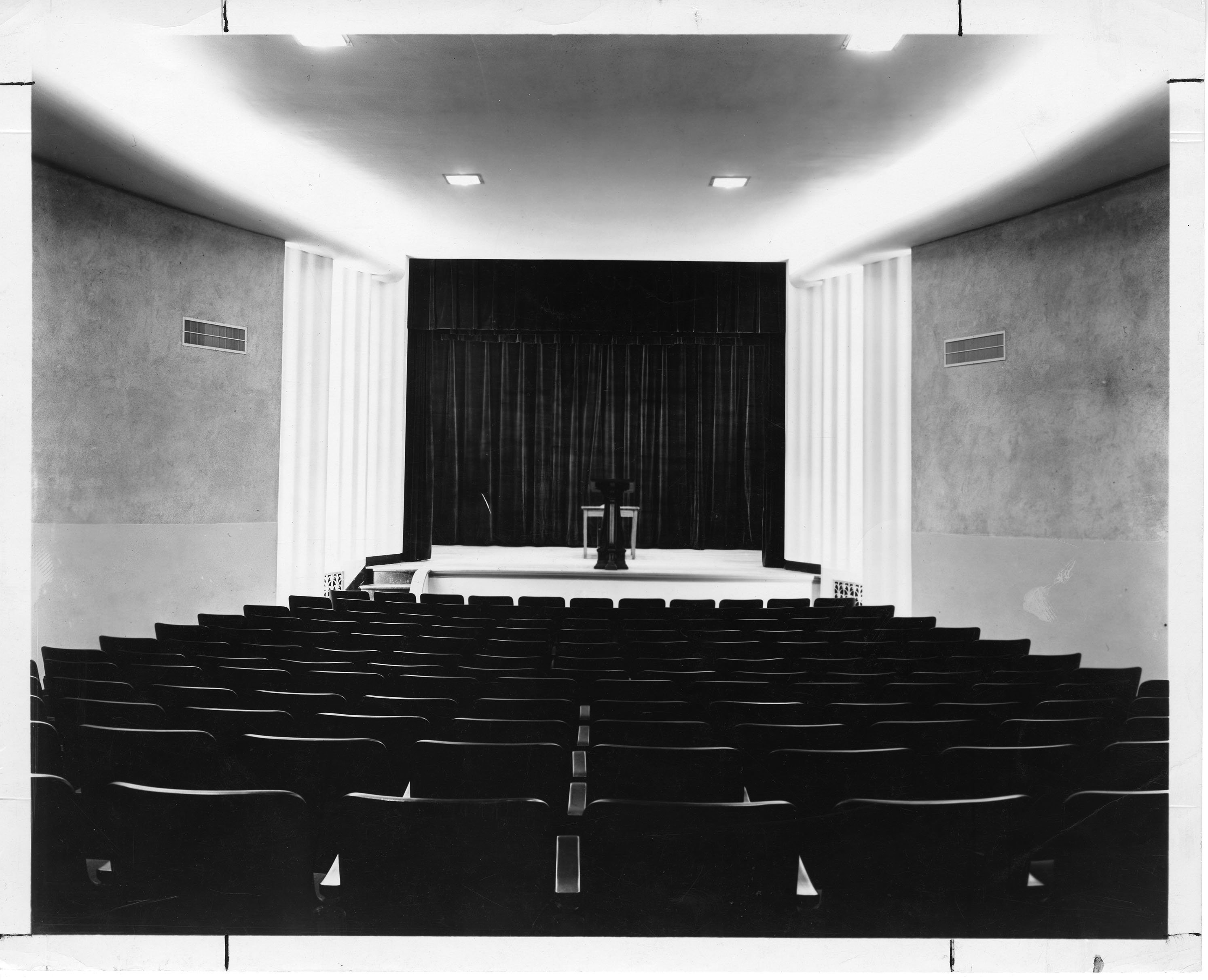 Picture of theater while empty, ca. 1956. EKU Photograph Collection.