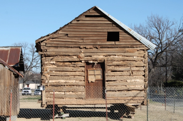 The Taylor Cabin before restoration