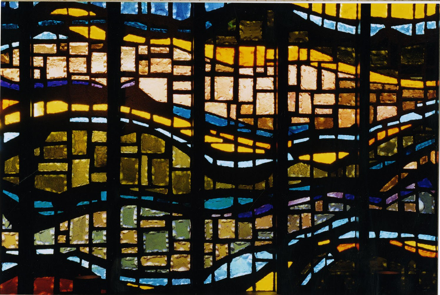 Meditation Chapel stained glass window.  EKU Photo Collection.