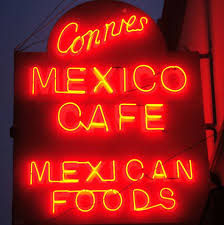Connies Cafe sign