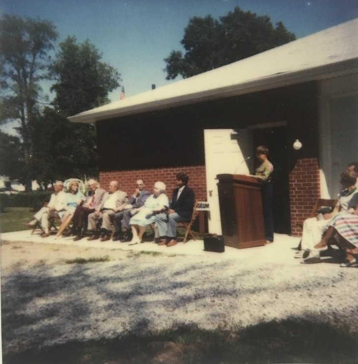 The dedication ceremony for the new museum on August 26th, 1984.