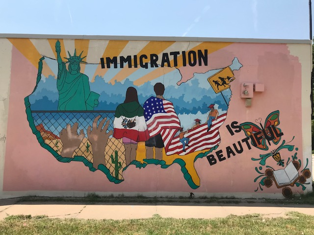 Immigration is Beautiful Mural