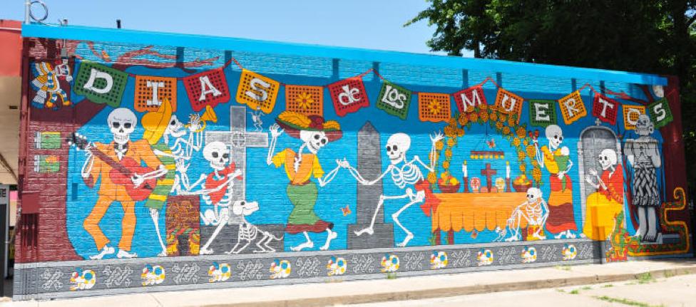 Dia de los Muertos Mural