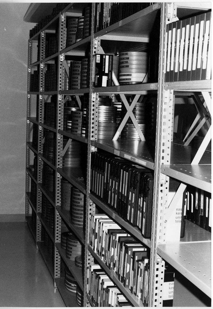 Shelves in the archives, 1996.  EKU Photo Collection.