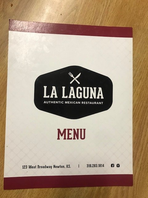 La Laguna food menu