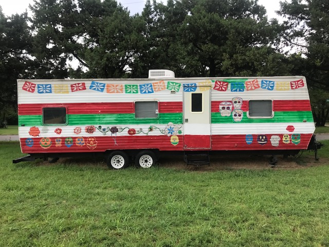 A food Truck located at the Guadalupe Park