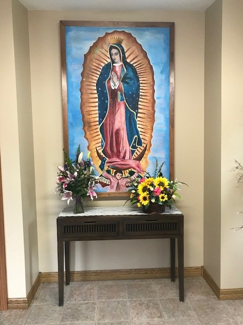 Our Lady of Guadalupe located inside the church