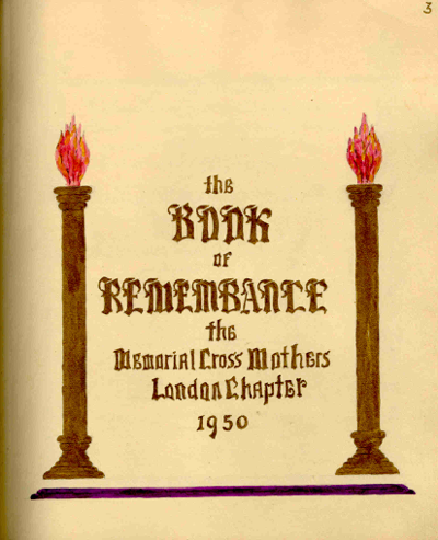 Book of Remembrance – Volume 1 title page