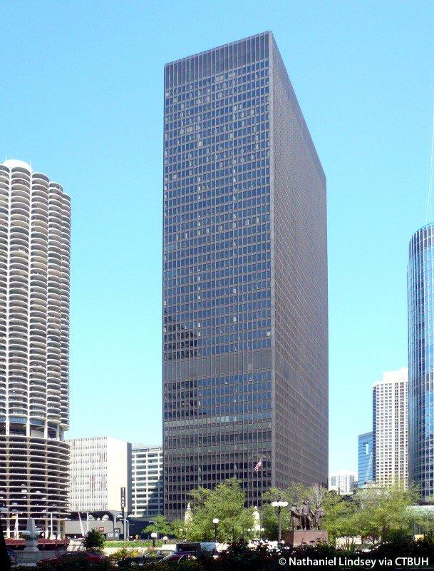 IBM Building, designed by Ludwig Mies van der Rohe.