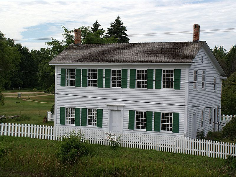 The Walker Tavern c. 2010. It was built as a farmhouse around 1832 and was converted into a tavern in 1843 by Sylvester and Lucy Walker.
