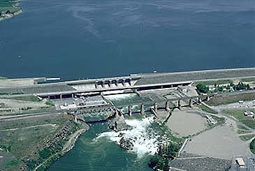 The current dam was built in the 1970s and replaced the dam that created the reservoir.