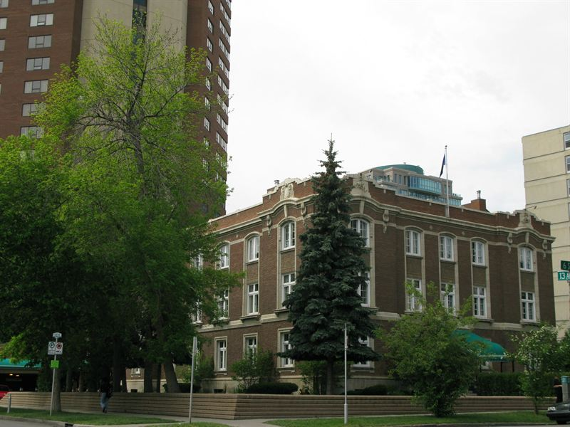 South east view from the Corner of 13th avenue and 6th Street SW