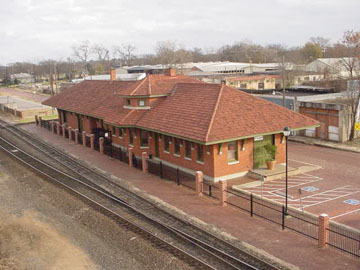 The Cotton Belt Depot was built in 1905 and was used passenger service until 1956.