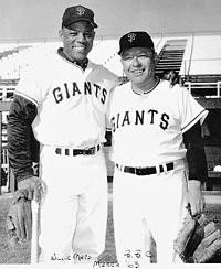 Ben Cheney and Willie Mays - Photo Courtesy of The Cheney Family