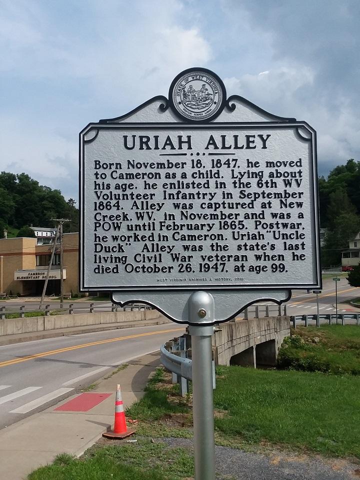 Uriah Alley Historical Marker