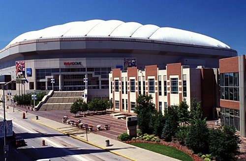 Exterior of the RCA Dome.