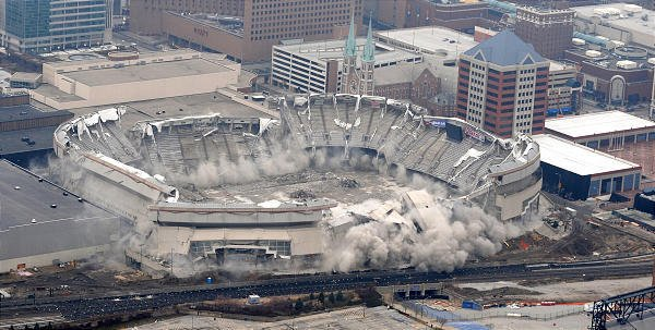 RCA Dome during implosion.