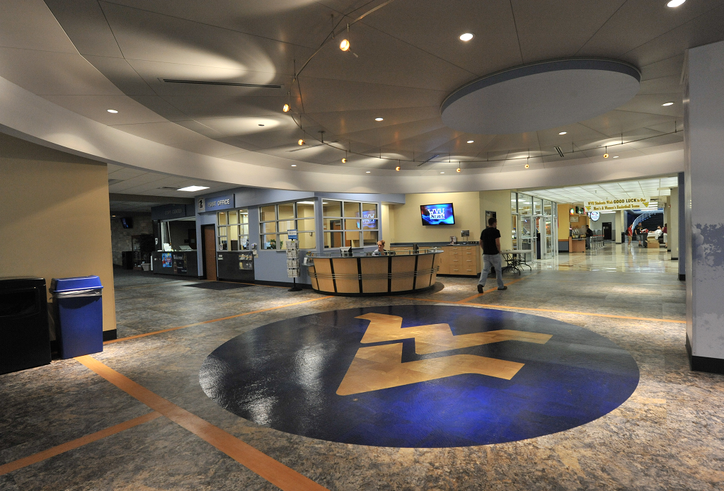 The Mountainlair's lobby and help desk.