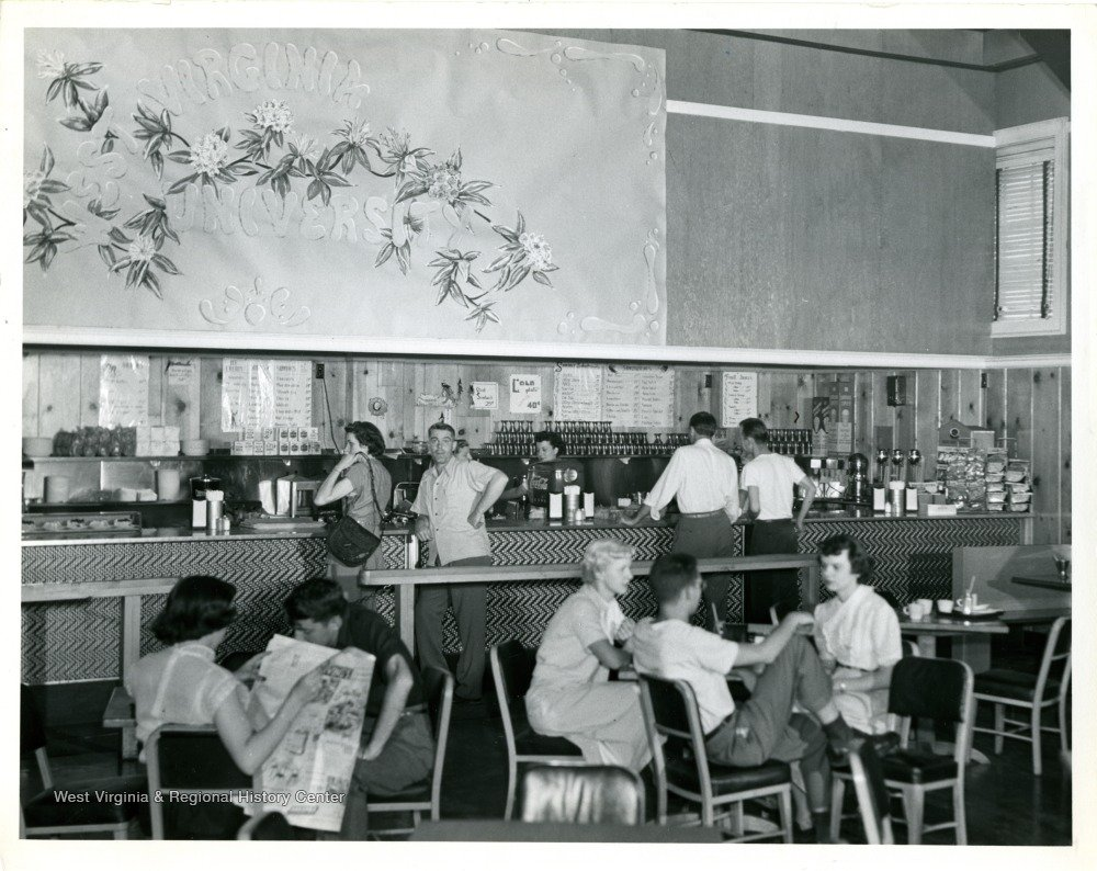 Snack Bar at the Old Mountainlair. Photo courtesy of West Virginia and Regional History Center, WVU Libraries.