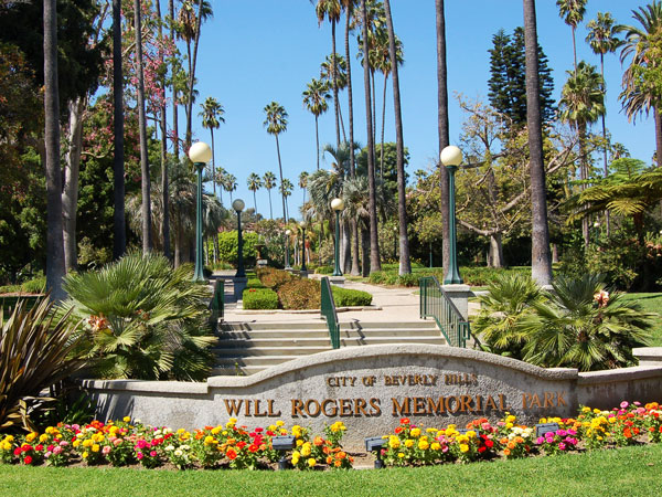 Will Rogers Memorial Park located on West Sunset Blvd. in Beverly Hills