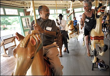 Dion Diamond, who became a freedom rider after the protests riding the carousel, 2010, Washington Post (reproduced under Fair Use)