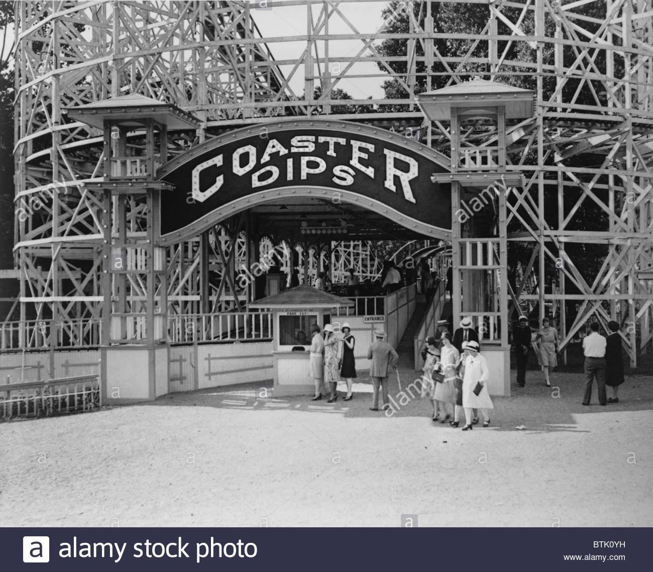 Coaster Dips ride at the Amusement Park, Historic American Buildings Survey (public domain)