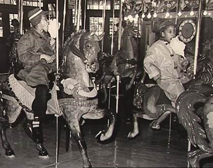 Children on the carousel after desegregation, National Park Service Glen Echo Park Photo Archives (reproduced under Fair Use)