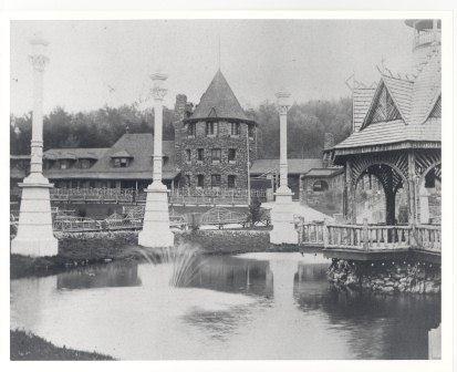 Photo of the original Chautauqua Era buildings, 1891, National Park Service Glen Echo Park Photo Archives (public domain)