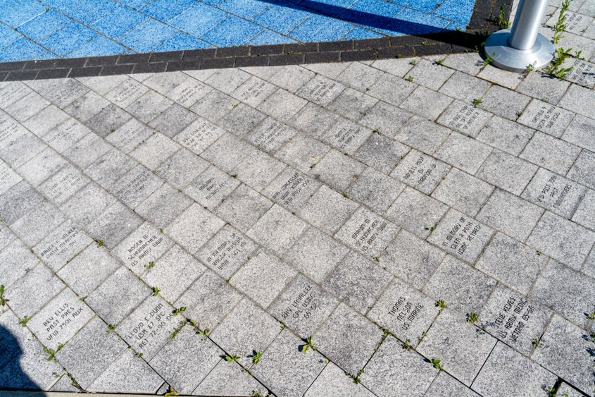 Memorial bricks dedicated to Wisconsin veterans